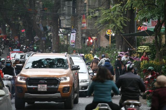 Mặc thời tiết mưa rét, người dân chen chân mua hoa Tết tại chợ hoa lâu đời nhất Hà Nội - Ảnh 13.