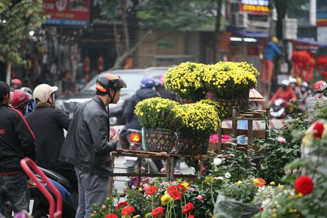 Mặc thời tiết mưa rét, người dân chen chân mua hoa Tết tại chợ hoa lâu đời nhất Hà Nội - Ảnh 9.