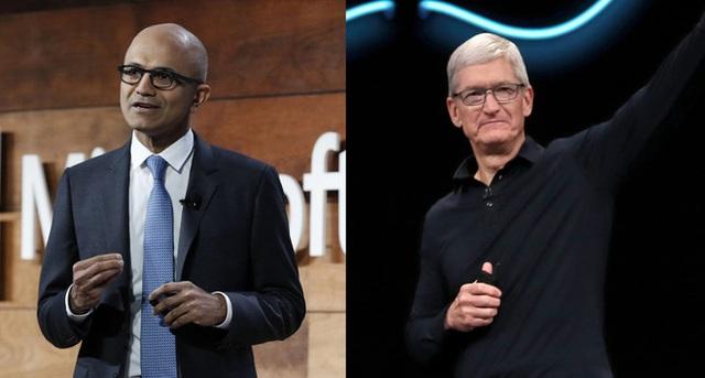 Apple 1,3 nghìn tỷ, Microsoft 1,23 nghìn tỷ và cuộc đua kỳ lạ của 2 vị CEO đại tài bậc nhất thế giới - Ảnh 3.
