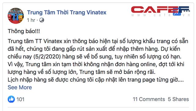 Năng lực cung ứng mỗi ngày 400.000 chiếc, Vinatex ngay sau hôm ra mắt khẩu trang vải diệt khuẩn giá tốt đã cháy hàng, công ty phải gấp rút sản xuất - Ảnh 1.