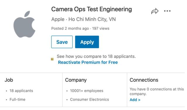 Liên tục tuyển dụng ở 2 thành phố lớn, Apple sắp mở nhà máy tại Việt Nam? - Ảnh 1.