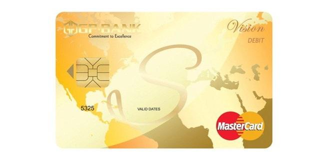 Thẻ ghi nợ quốc tế GP.Bank Vision Debit Master Card chính thức phát hành trên thị trường Thẻ