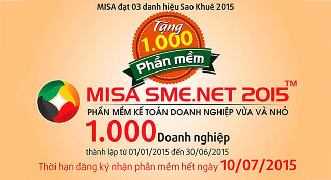 MISA tặng phần mềm miễn phí cho 1000 doanh nghiệp mới thành lập trong năm 2015
