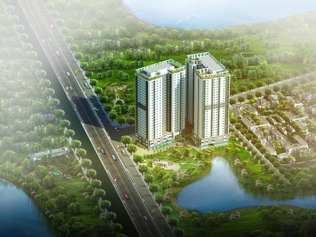 """Hateco Hoàng Mai: Khách """"chuộng"""" các căn view hồ và  Công viên Yên Sở"""