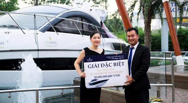 Chủ nhân căn hộ Vinhomes Central Park may mắn sở hữu du thuyền triệu đô