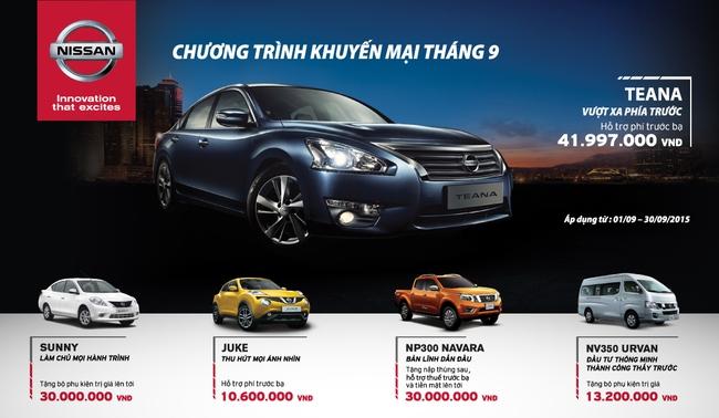 Ưu đãi đặc biệt trong tháng 9/2015 cùng Nissan Việt Nam
