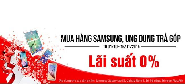"""""""Mua Samsung – Ung dung trả góp"""" lãi suất 0% tại Nhật Cường Mobile"""