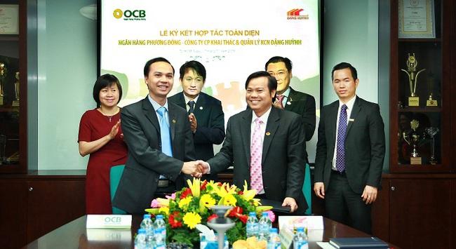 OCB hợp tác toàn diện với công ty CP khai thác và quản lý KCN Đặng Huỳnh