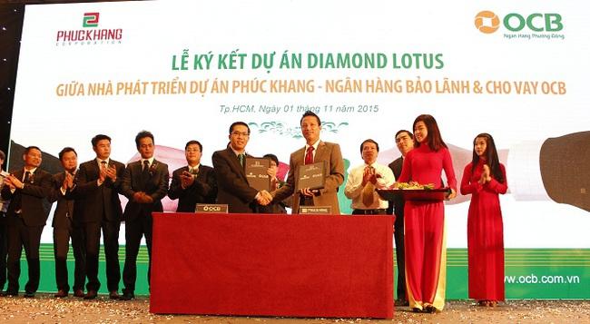 OCB ký kết bảo lãnh và cho vay dự án theo kiến trúc xanh Diamond Lotus