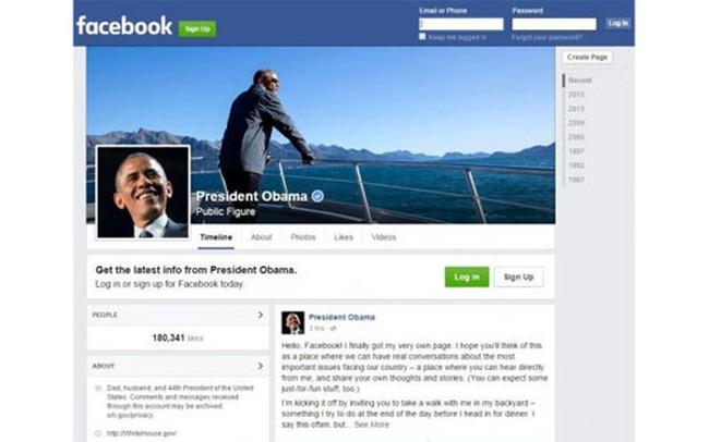 Tổng thống Mỹ chính thức mở trang Facebook cá nhân
