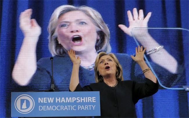 Tỷ lệ ủng hộ Hillary Clinton vào Nhà Trắng sụt mạnh