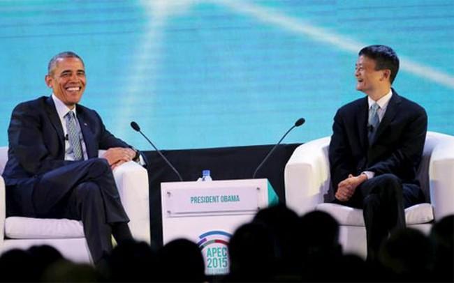 """Tổng thống Mỹ """"phỏng vấn"""" ông chủ Alibaba"""