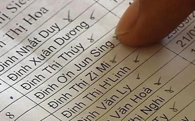 Họ, tên, đệm một người không được quá 25 chữ cái?