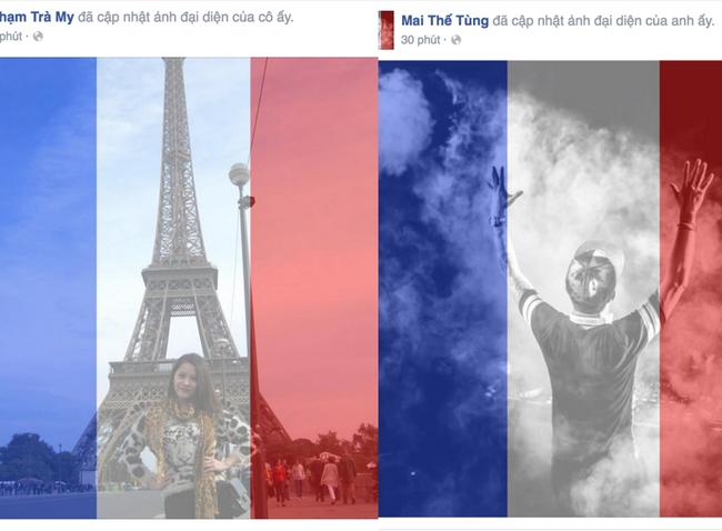 Dân mạng đồng loạt thay avatar hướng về nước Pháp
