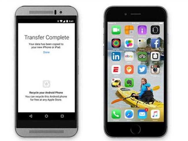 """Apple ra chiêu """"độc"""" hút người dùng Google Android bỏ sang iOS"""