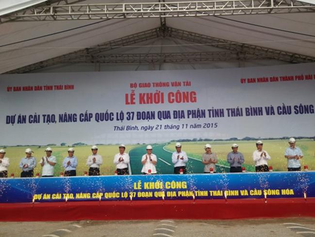 Hơn 900 tỷ nâng cấp Quốc lộ 37 đoạn qua Thái Bình và cầu Sông Hóa