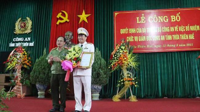 Bổ nhiệm Giám đốc Công an tỉnh Thừa Thiên Huế