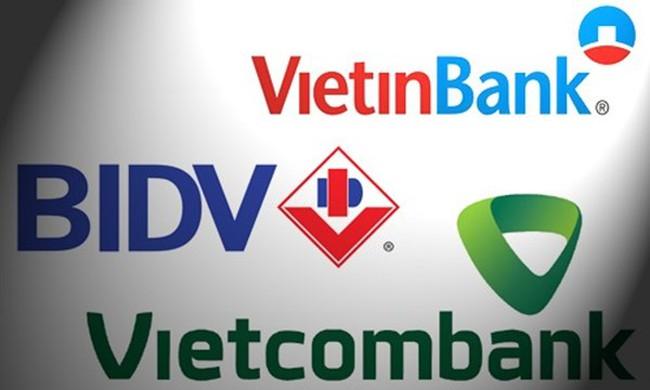 Nợ xấu của Vietcombank, Vietinbank và BIDV bằng... vốn của 8 NH khác cộng lại