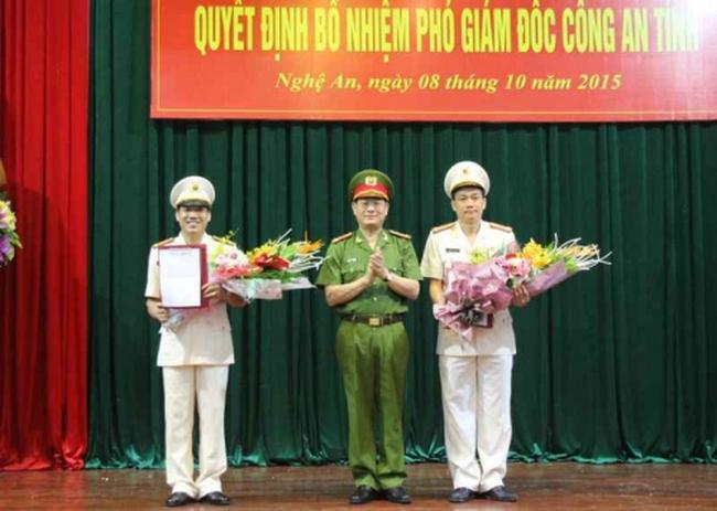 Bổ nhiệm hai Phó Giám đốc Công an tỉnh Nghệ An
