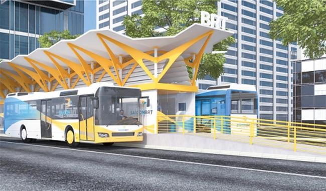 TP.HCM khởi động dự án tuyến xe bus nhanh BRT số 1