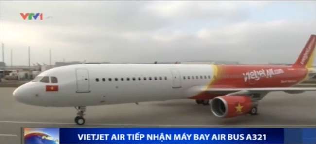 VietJet Air tiếp nhận máy bay Airbus A321đầu tiên