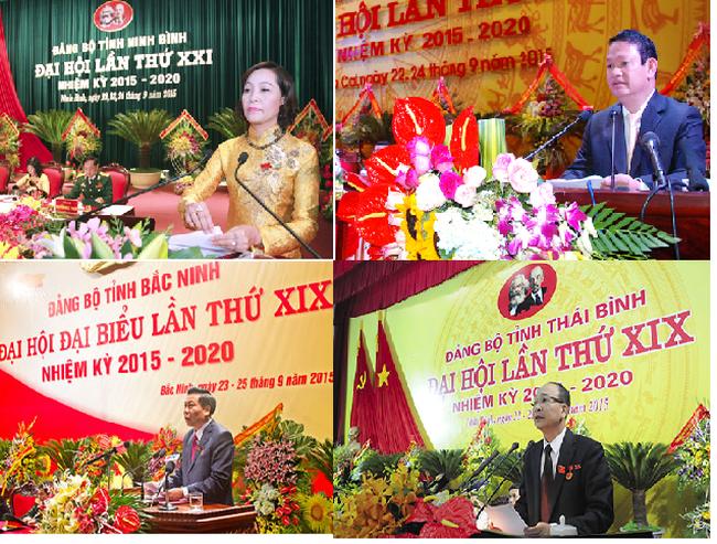Hàng loạt bí thư tỉnh ủy được tái đắc cử nhiệm kỳ 2015-2020