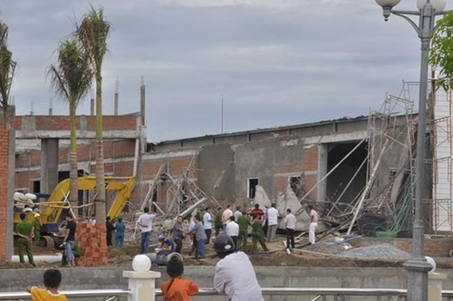Điều tra nguyên nhân sập công trình làm 5 người thương vong