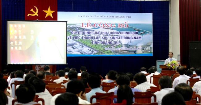 Công bố thành lập khu kinh tế Đông Nam Quảng Trị