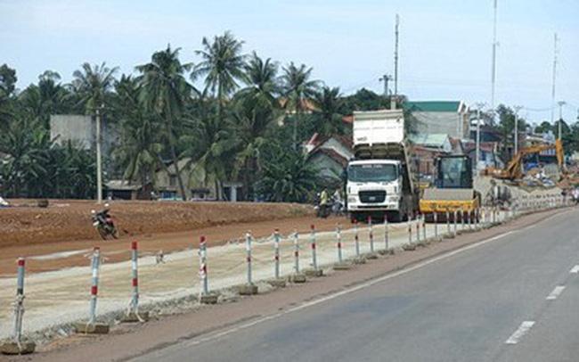 Bình Định đề nghị thay nhà thầu thi công Quốc lộ 1A