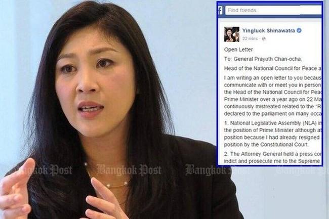 Thái Lan: Bà Yingluck phản đối việc tịch thu tài sản