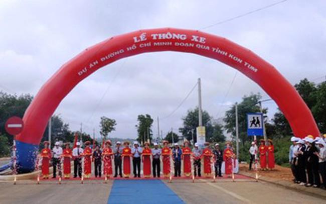 Thông xe Dự án đường Hồ Chí Minh đoạn qua tỉnh Kon Tum
