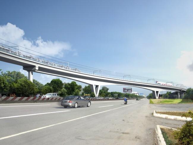 Xây cầu metro vượt xa lộ Hà Nội