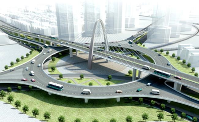 Sắp khánh thành cầu vượt 3 tầng đầu tiên tại Việt Nam