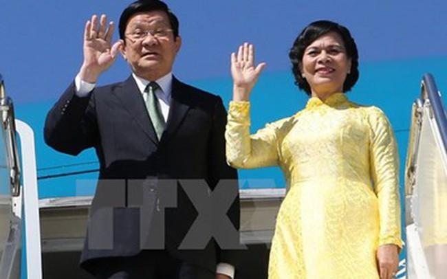 Chủ tịch nước lên đường dự Hội nghị cấp cao APEC 23