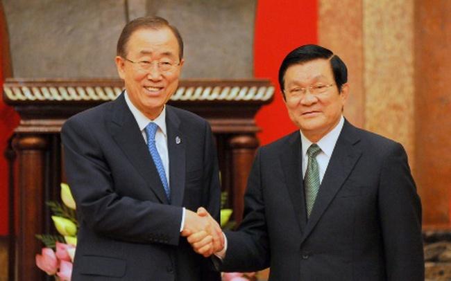 Lãnh đạo Ðảng và Nhà nước tiếp Tổng Thư ký Liên Hợp Quốc
