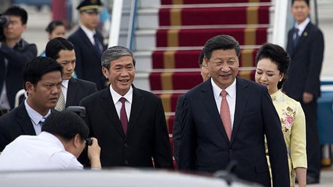 Chủ tịch Tập Cận Bình bắt đầu chuyến thăm Việt Nam