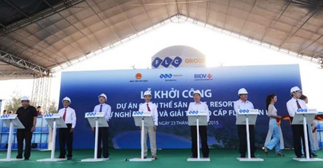 Tập đoàn FLC khởi công dự án Quần thể sân golf và resort 3.500 tỷ đồng tại Bình Định