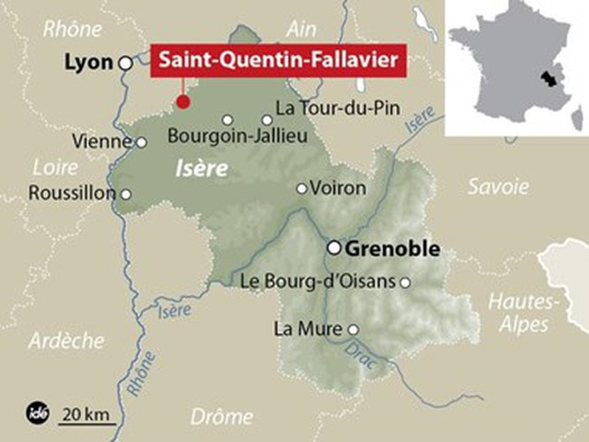 Pháp rúng động với vụ tấn công, chặt đầu tại nhà máy gas