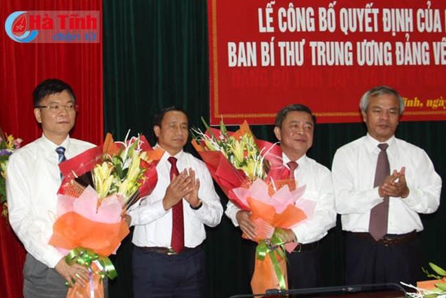 Công bố các quyết định điều động cán bộ chủ chốt tỉnh Hà Tĩnh