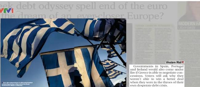 Báo chí châu Âu nói gì về quyết định trưng cầu dân ý của Hy Lạp?