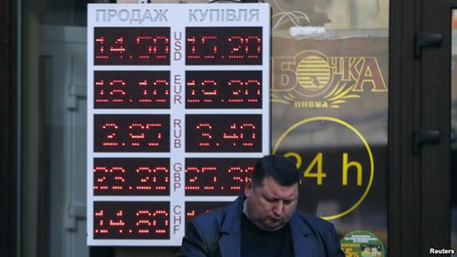 Đồng hryvnia Ukraine mất giá kỷ lục 30%