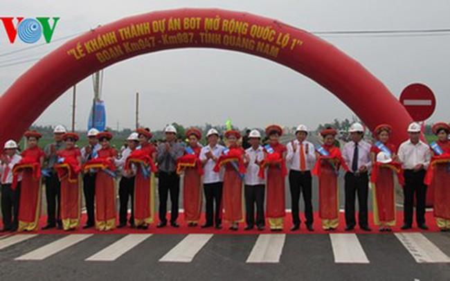 Khánh thành Dự án mở rộng Quốc lộ 1 A qua Quảng Nam