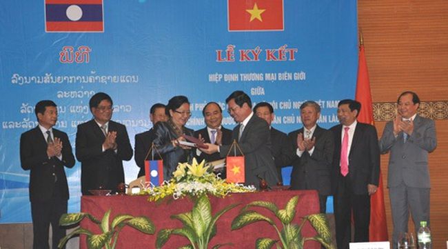 Chính phủ phê duyệt Hiệp định thương mại biên giới Việt-Lào