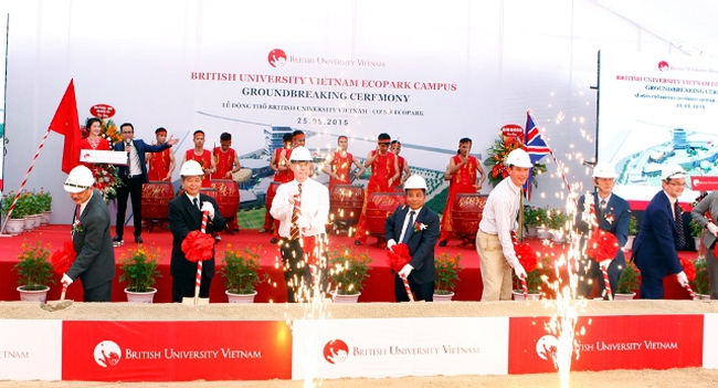 Khởi công Đại học Anh Quốc Việt Nam 70 triệu USD tại Ecopark