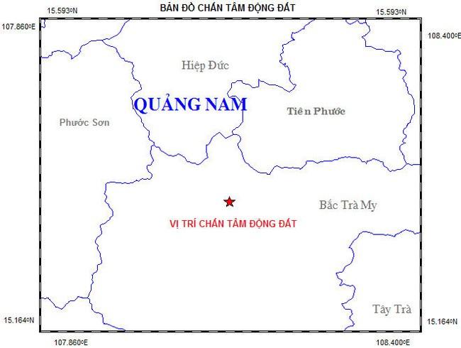 Lại động đất tại Bắc Trà My