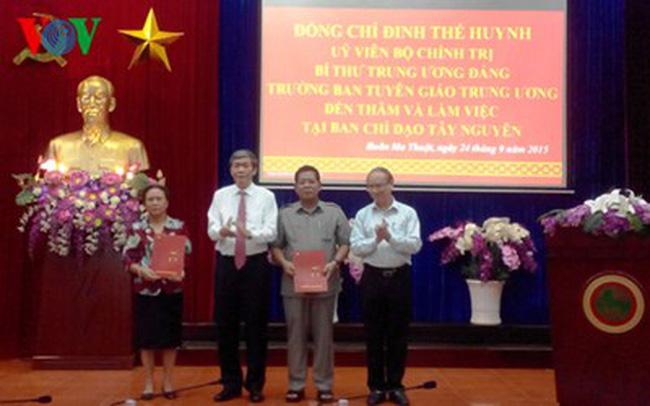 Bí thư Tỉnh ủy Đắk Lắk giữ chức Phó Trưởng Ban chỉ đạo Tây Nguyên