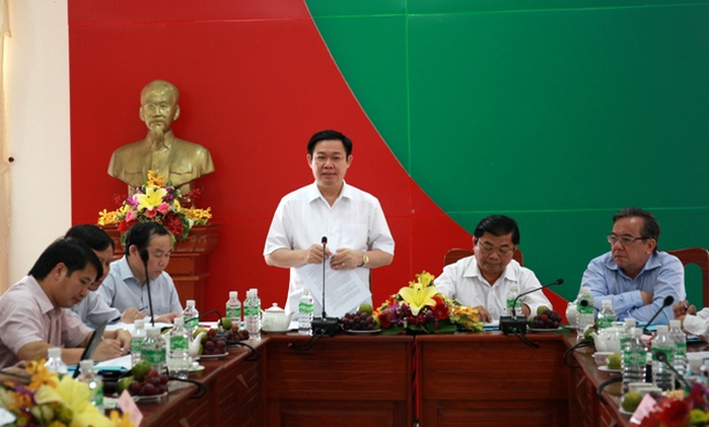 Trưởng Ban Kinh tế Trung ương làm việc với Thường trực Tỉnh ủy Tây Ninh