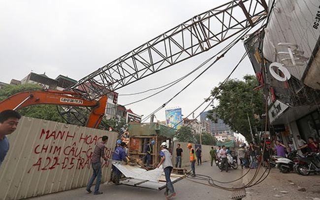 Tai nạn liên tiếp, tuyến Metro Nhổn - Ga Hà Nội bị dừng thi công