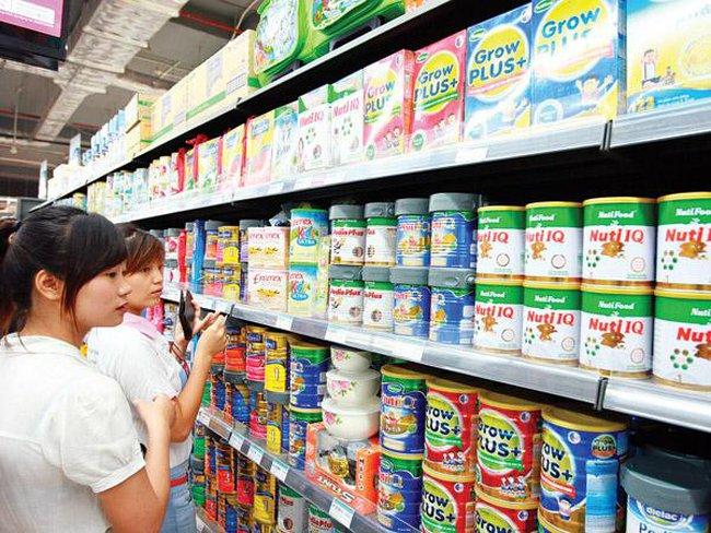 67 sản phẩm sữa cho trẻ em giảm giá từ 0,4 - 4%