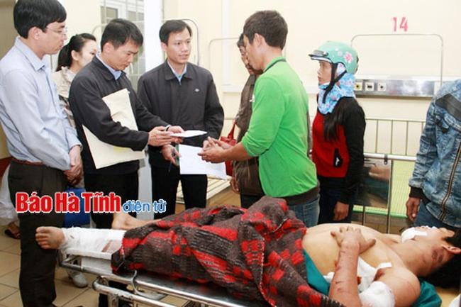 Đại diện Formosa đến thăm hỏi nạn nhân vụ sập giàn giáo